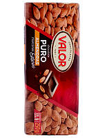 Черный шоколад Valor Almendras с миндалем без глютена, 250 гр.