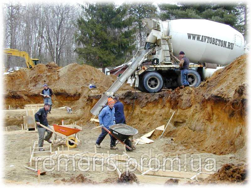 приготовление доставка бетонной смеси