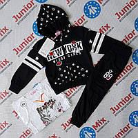 Трикотажный спортивный костюм на девочку тройка SEAGULL
