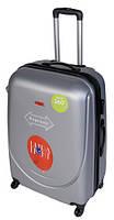 Чемодан сумка Gravitt 310 (средний) серый