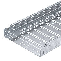 Лоток RKSM 650 FS перфорированный, 60х500х3050, сталь оцинкованная. ОБО. 6047719