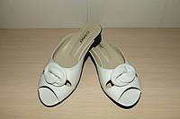Шлепки женские кожаные белые 39,40 р Vlamax