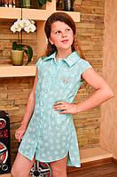 Платье-рубашка для девочки подростка