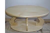 Журнальний столик з натурального дерева без кольору (Журнальный столик из натурального дерева без цвета)