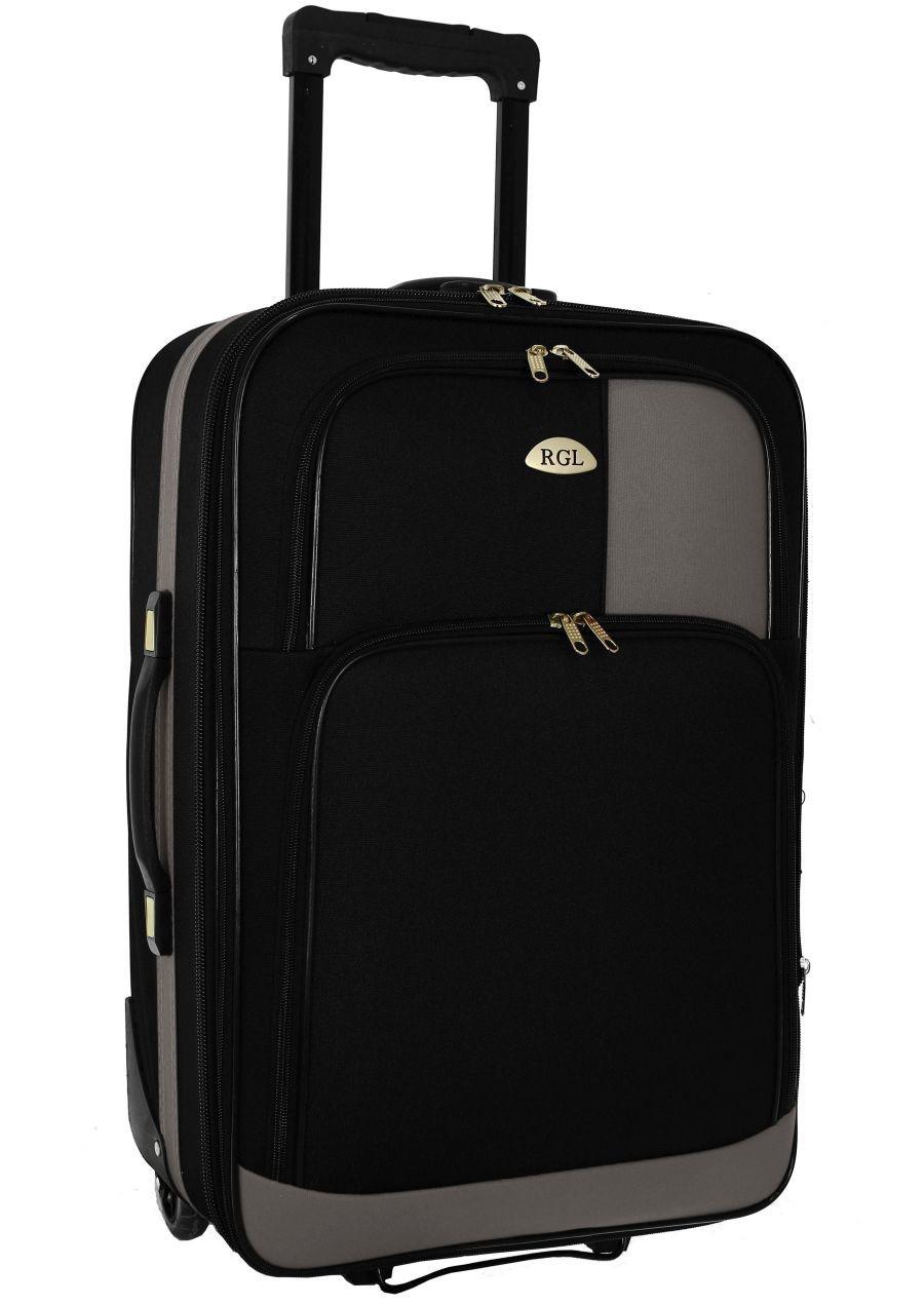 Чемодан сумка RGL 652 (небольшой) черно-серый