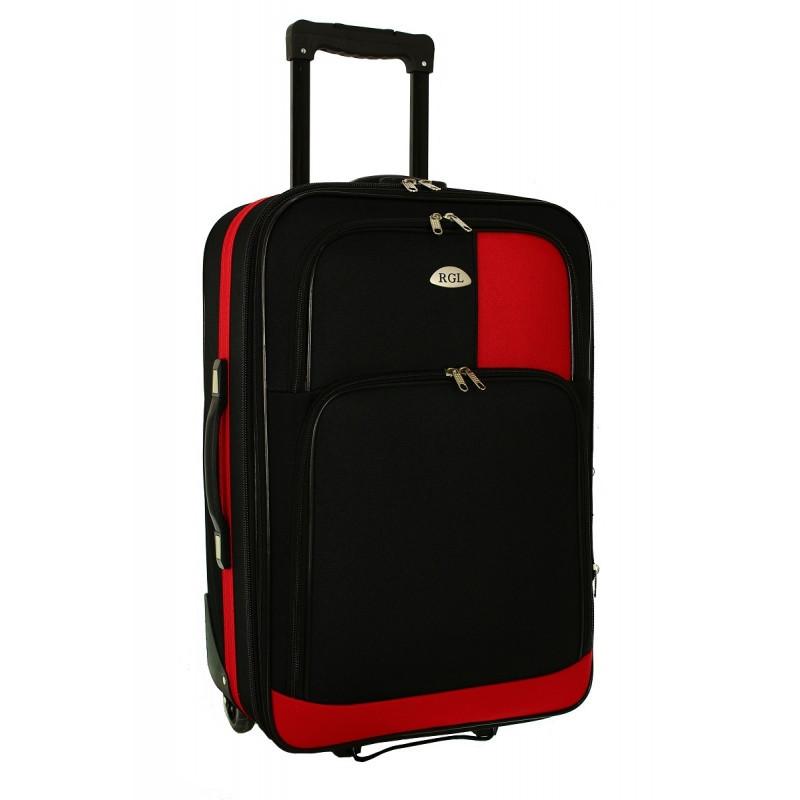 Чемодан сумка RGL 652 (средний) черно-красный