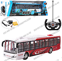 Автобус 666-695А, на радиоуправлении, 37 см, аккумулятор, 2 вида, свет, в коробке 50*14,5*13,5 см