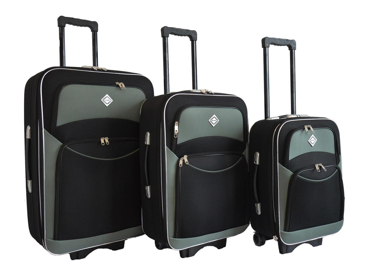 9d637b638418 Чемодан Bonro Style набор 3 штуки черно-серый  продажа, цена в ...