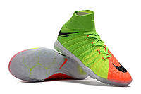 Футбольные сороконожки Nike HypervenomX Proximo II DF TF Electric Green/Black/Hyper Orange, фото 1