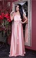 Платье снеобычными цветами  длинное в пол