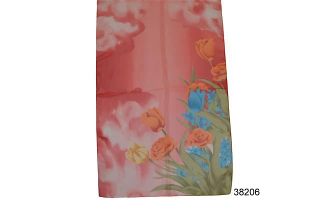 Модный весенний шифоновый шарф Тюльпан 2