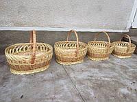 Набор пасхальных корзин из лозы (4 шт.)