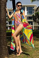 Контрастный  совместный купальник яркого цвета 42 44 46 48(укр)