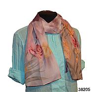Модный весенний шарф Тюльпан бордовый