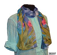 Модный весенний шарф Тюльпан синий