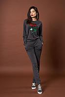 Женский трикотажный костюм. Код модели КТ-07-43-17. Цвет серый.