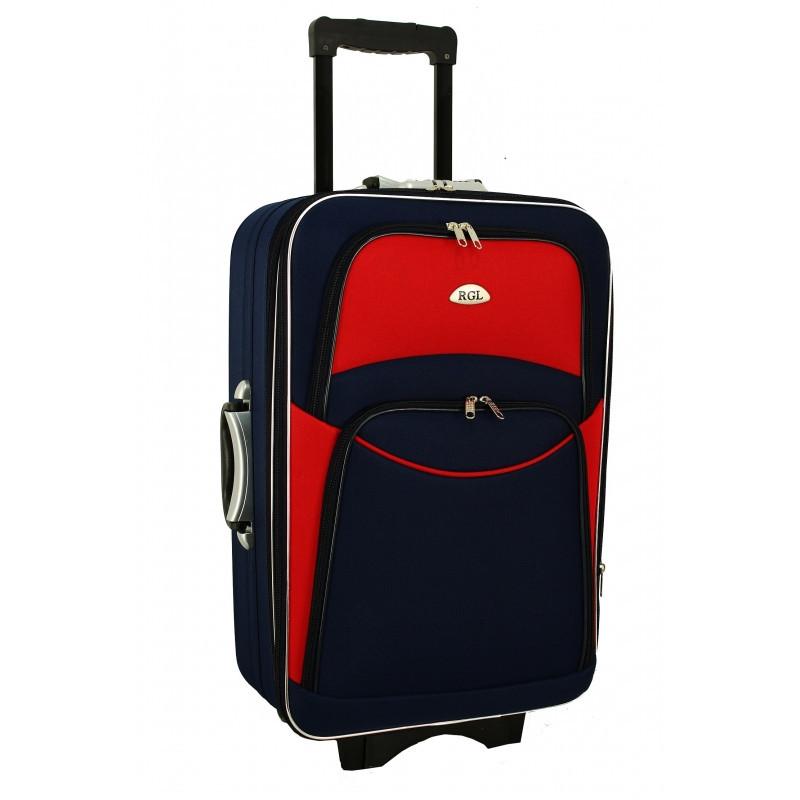 Валіза сумка 773 (великий) синьо-червоний