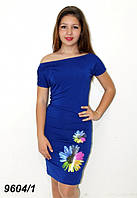Платье летнее с аппликацией 40,42,44,46,48