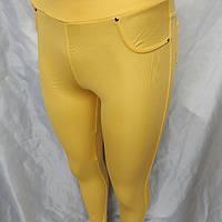 Лосины женские желтые, лимон классика