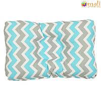 Ортопедическая подушка для новорожденных (зигзаг бирюзовый)
