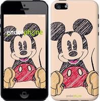 "Чехол на iPhone 5 Нарисованный Мики Маус ""2731c-18"""