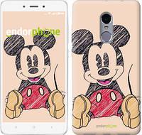 "Чехол на Xiaomi Redmi Note 4X Нарисованный Мики Маус ""2731c-951"""