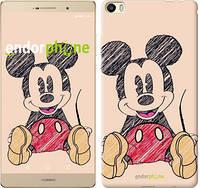 """Чехол на Huawei P8 Max Нарисованный Мики Маус """"2731u-371"""""""