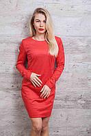 Сукня жіноча з трикотажної замші у красивих тонах, фото 1