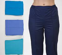 Медицинские бирюзовые брюки на резинке разных размеров