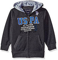 Кофта флисовая U.S. Polo Assn. Boys' Fleece Hooded Jacket, 5-6 лет!