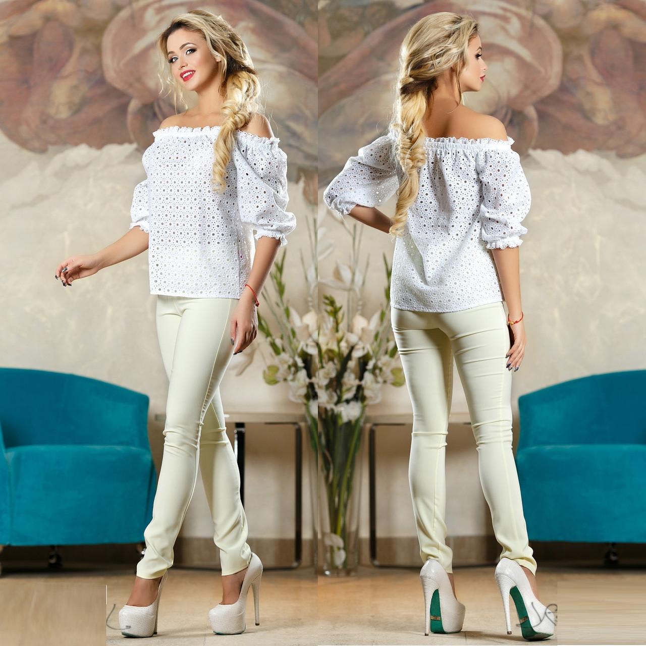2137c86da20cf Летняя блуза и прошвы с открытыми плечами SV Белый: продажа, цена в ...
