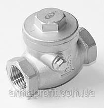 Клапан обратный поворотный нержавеющий SC200 муфтовый AYVAZ Ду50 Ру16
