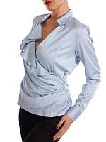 Женская голубая блузка с длинными рукавами Silvian Heach в размере M