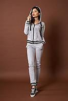 Женский трикотажный костюм. Код модели КТ-09-46-17. Цвет серый меланж.