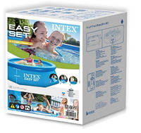 Intex 28112 Надувной бассейн 244х76 см + насос-фильтр