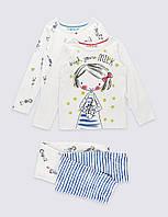 Набор пижам для девочки Marks&Spencer 2 шт, 3-4 года!