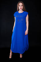 Очень красивое длинное платье свободного кроя яркого цвета