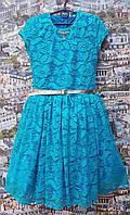 Подростковое платье для девочки Орхидеябирюзовый р.134-152