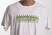 ADIDAS футболка мужская  размер M   ПОГ 54 см  б/у