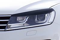 Накладки на передние фары (реснички) Volkswagen Touareg 2010+