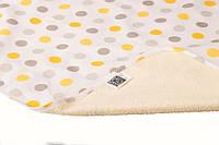 Пеленка двустороняя непромокаемая Eco Cotton, р.50х70 см. (Горошек)
