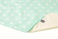 Пеленка двустороняя непромокаемая Eco Cotton, р.50х70 см. (Звезды)