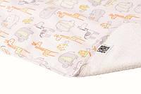 Пеленка двустороняя непромокаемая Eco Cotton, р.50х70 см. (Зоопарк)