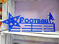 Держатель для медалей для футбола.Изготовлено из фанеры толщиной 8 мм, размеры 500 на 200 мм