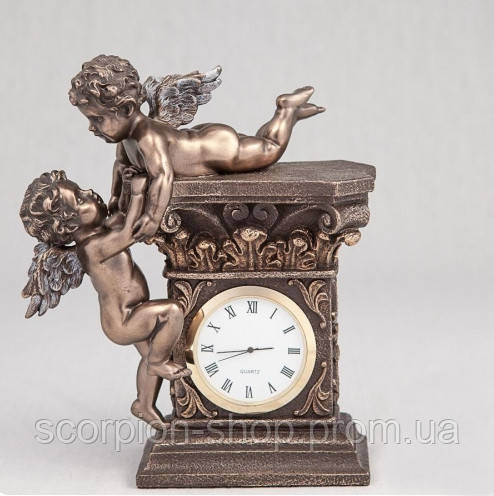 """Часы """"Играющие ангелочки"""" (17 см) Veronese Италия 74349A4"""