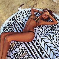 Круглое пляжное полотенце Абстракция