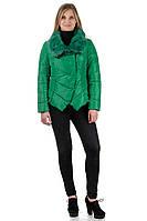 Короткая весенняя куртка с мехом WENQINGXUE 8887