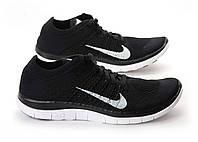 Кроссовки мужские Nike Free Flyknit 4.0 Black White, фото 1