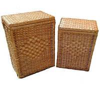Набор плетеных корзин из лозы для белья из 2шт.