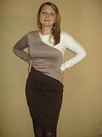 Платье трикотажное трехцветное (в наличии другая цветовая гамма), фото 1